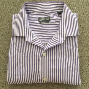 Kenneth Cole Reaction Stripe Button Front Shirt 16